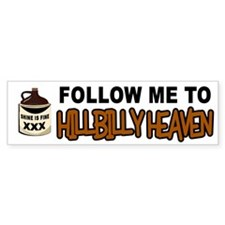 HILLBILLY HEAVEN Bumper Bumper Sticker