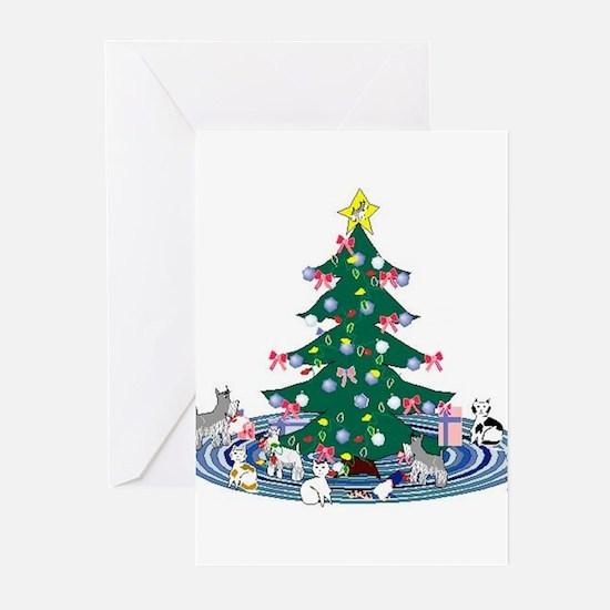 Schnauzer Christmas Greeting Cards