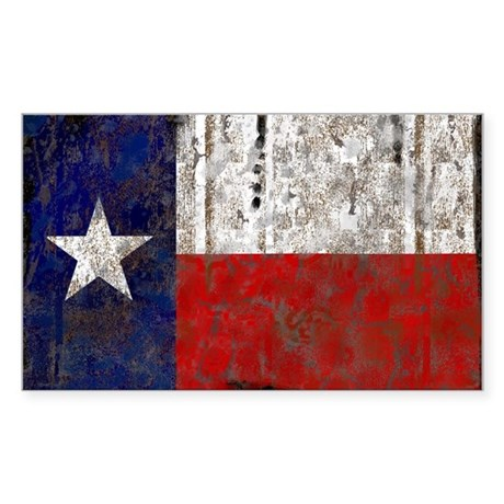 Texas Retro State Flag Rectangle Sticker