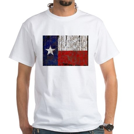 Texas Retro State Flag White T-Shirt