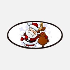 Santa, Rudolph Christmas Patches