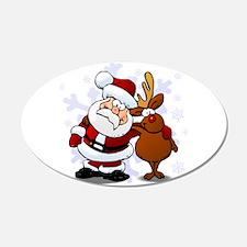 Santa, Rudolph Christmas Wall Decal