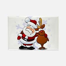 Santa, Rudolph Christmas Rectangle Magnet (10 pack