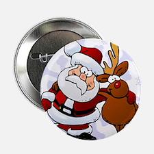 "Santa, Rudolph Christmas 2.25"" Button (100 pack)"