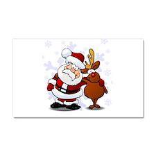 Santa, Rudolph Christmas Car Magnet 20 x 12