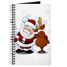 Santa, Rudolph Christmas Journal