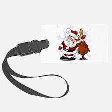 Santa, Rudolph Christmas Luggage Tag