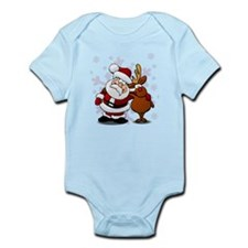 Santa, Rudolph Christmas Onesie