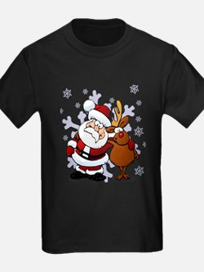 Santa, Rudolph Christmas T