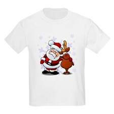 Santa, Rudolph Christmas T-Shirt