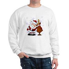 Santa, Rudolph Christmas Sweatshirt