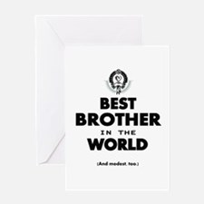 The Best in the World Best Brother Greeting Cards