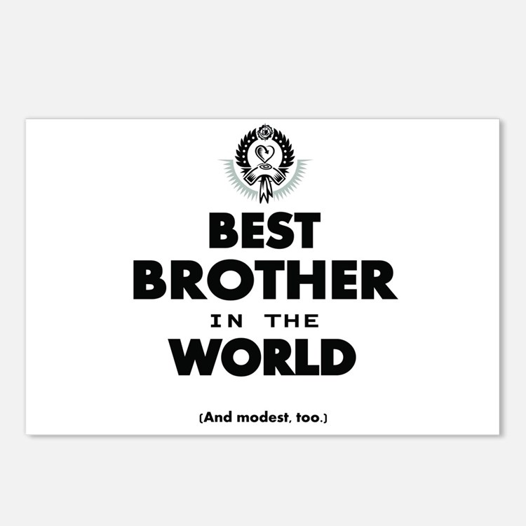 The Best in the World Best Brother Postcards (Pack
