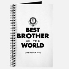 The Best in the World Best Brother Journal