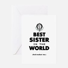 The Best in the World Best Sister Greeting Cards