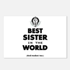The Best in the World Best Sister Postcards (Packa