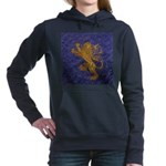 Rampant Lion - gold on blue Hooded Sweatshirt
