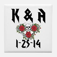 Personalized Skull Tile Coaster