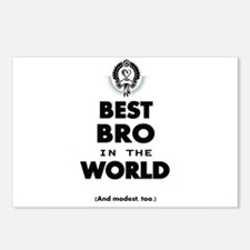 The Best in the World Best Bro Postcards (Package