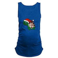 Christmas Turtle 3 Maternity Tank Top
