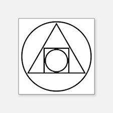 """Square Triangle Circle Geom Square Sticker 3"""" x 3"""""""