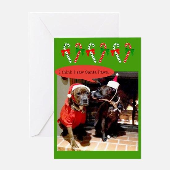 Santa Paws Greeting Cards
