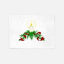Christmas Candle 5'x7'Area Rug