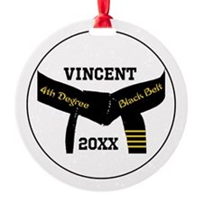 Martial Arts 4th Degree Black Belt Ornament