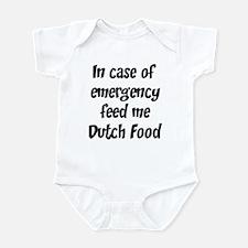 Feed me Dutch Food Infant Bodysuit
