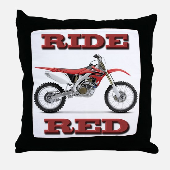 RideRed 08 Throw Pillow