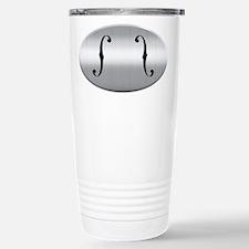 Brushed Chrome F Holes Travel Mug