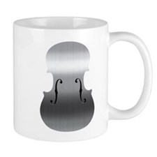 Brushed Chrome F Holes Mug