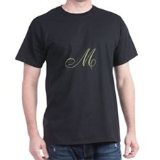 Gold Monogrammed Initial T-Shirt