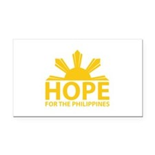 Hope For The Philippines Rectangle Car Magnet