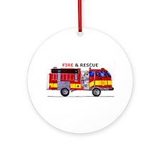 Fire And Rescue Ornament (Round)