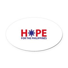 Hope For The Philippines Oval Car Magnet