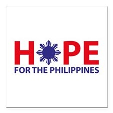 """Hope For The Philippines Square Car Magnet 3"""" x 3"""""""