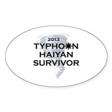 Typhoon Haiyan Survivor Decal