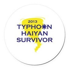 Typhoon Haiyan Survivor Round Car Magnet