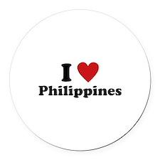 I Love Philippines Round Car Magnet