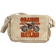 Orange Rules Messenger Bag