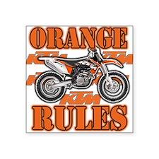 Orange Rules Sticker