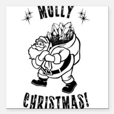 """Molly Christmas Square Car Magnet 3"""" x 3"""""""