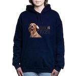 Happy Face Dachshund Hooded Sweatshirt