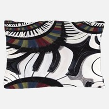 Modern Abstract Piano Print Pillow Case