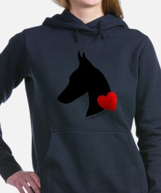 heartsilhouette.png Hooded Sweatshirt