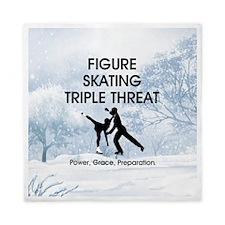 TOP Figure Skating Slogan Queen Duvet