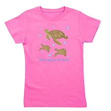 Personalized Sea Turtle Girl's Tee