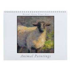 Animal Painting Wall Calendar