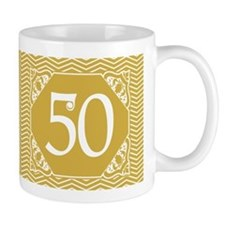 50th Birthday (Chevron) Small Mug